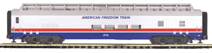 MTH 20-64216 American Freedom 70' ABS Full Length Vista Dome Passenger Car (Smooth)