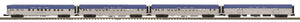 MTH 20-64232 Nickel Plate Road 4-Car 70' Streamlined Passenger Set  (Ribbed Sided)
