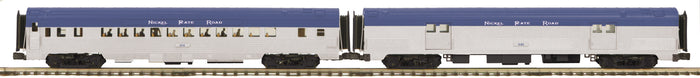 "MTH 20-64234 - 70' Streamlined Baggage/Coach Passenger Set ""Nickel Plate Road"" (Ribbed Sided) 2-Car"