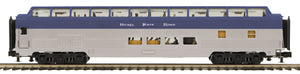 MTH 20-64235 Nickel Plate Road 70' Streamlined Full Length Vista Dome Passenger Car (Ribbed Sided)