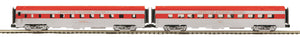 "MTH 20-66297 - 70' Streamlined Slpr/Diner Passenger Set (Ribbed Sided) ""MKT"" (2-Car)"