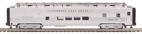 "MTH 20-67295 - 70' Streamlined Full Length Vista Dome Passenger Car ""Florida East Coast"" (Ribbed Sided)"