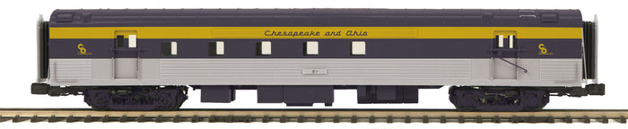 "MTH 20-68279 - 70' Streamlined RPO Passenger Car ""Chesapeake & Ohio"" (Smooth Sided)"