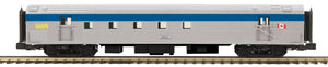 "MTH 20-68281 - 70' Streamlined RPO Passenger Car ""VIA Rail"" (Ribbed Sided)"