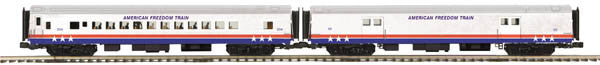 "MTH 20-69247 - 70' Streamlined Baggage/Coach Passenger Set ""American Freedom"" (2-Car)"