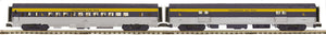 "MTH 20-69279 - 70' Streamlined Baggage/Coach Passenger Set ""Chesapeake & Ohio"" (2-Car)"