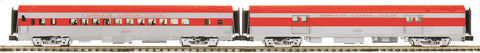 "MTH 20-69297 - 70' Streamlined Baggage/Coach Passenger Set (Ribbed Sided) ""MKT"" (2-Car)"