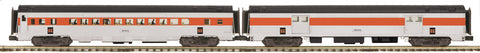 "MTH 20-69299 - 70' Streamlined Baggage/Coach Passenger Set (Ribbed Sided) ""New Haven"" (2-Car)"