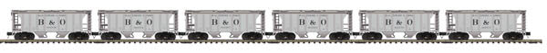 "MTH 20-90807 - Ps-2 Hopper Car Set ""Baltimore & Ohio"" (6-Car)"