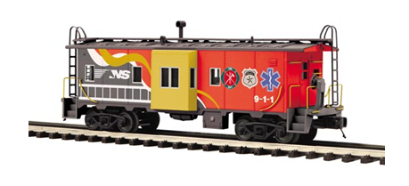 "MTH 20-91593 - Bay Window Caboose ""Norfolk Southern"" First Responder"