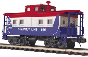 "MTH 20-91626 - Steel Caboose - Center Cupola ""Shawmut Line"""