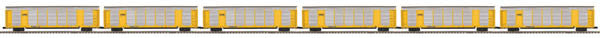 "MTH 20-92046 - Corrugated Auto Carrier Set ""CSX"" (6-Car)"