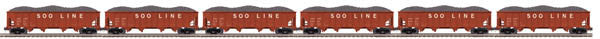 "MTH 20-92066 - 4-Bay Hopper Car Set ""Soo Line"" (6-Car)"