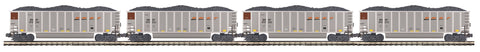 "MTH 20-92160 - Coalporter Hopper Car Set ""BNSF"" (4-Car)"