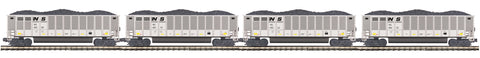 "MTH 20-92166 - Coalporter Hopper Car Set ""Norfolk Southern"" (4-Car)"