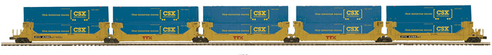 "MTH 20-92245 - Twin Stack Container Set ""TTX"" (5-Car)"