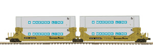 "MTH 20-92250 - Twin Stack Container Set ""Southern Pacific"" (2-Car)"