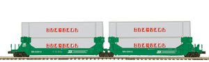 MTH 20-92253 Burlington Northern 2-Car Twin Stack Container Set