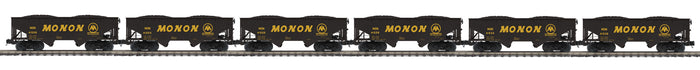 MTH 20-92256 Monon 6-Car Flat End Offset Hopper Car Set