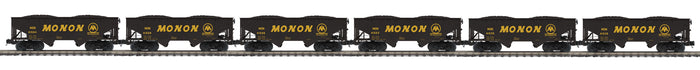 MTH 20-92257 Monon 6-Car Flat End Offset Hopper Car Set