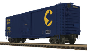 "MTH 20-93919 - 50' Ps-1 Box Car ""Chessie"" w/ Youngstown Standard Door"