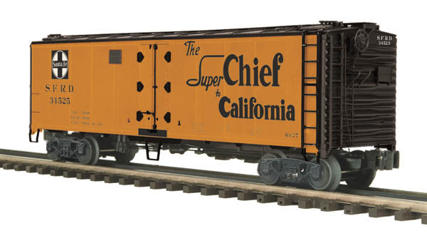 "MTH 20-94258 - 40' Steel Sided Reefer Car ""Santa Fe"""
