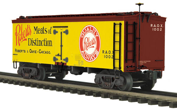 "MTH 20-94376 - 36' Woodsided Reefer Car ""Robert & Oake Meats"" - Second Hand"