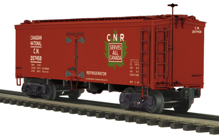 "MTH 20-94381 - 36' Woodsided Reefer Car ""Canadian National"""