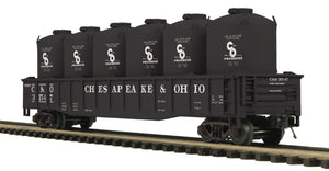 "MTH 20-95207 - Gondola Car ""Chesapeake & Ohio"" w/ LCL Cement Containers"