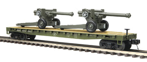 MTH 20-95347 U.S. Army Flat Car w/ 105mm Howitzers