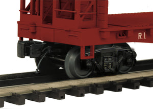 "MTH 20-95367 - Flat Car ""Rock Island"" w/ Bulkheads & ScaleTrax Load"
