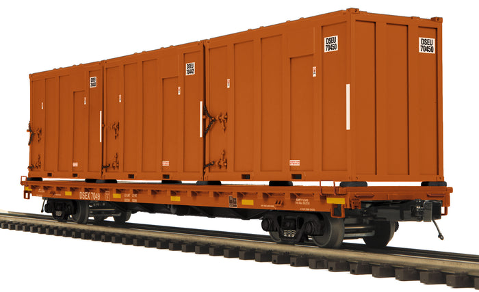 MTH 20-95449 East Carbon Development 60' Flat Car w/Trash Containers