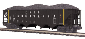"MTH 20-97847 - 4-Bay Hopper Car ""Erie Lackawanna"" w/ Coal Load"