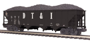 "MTH 20-97848 - 4-Bay Hopper Car ""Detroit Toledo & Ironton"" w/ Coal Load"