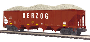 MTH 20-97904 Herzog Rail Services 4-Bay Hopper Car