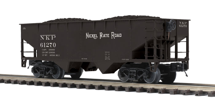 MTH 20-97952 Nickel Plate Road Flat End Offset Hopper Car