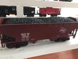 "MTH 20-92093 - 2-Bay Offset Hopper Car Set ""Milwaukee Road"" (6-Car)"