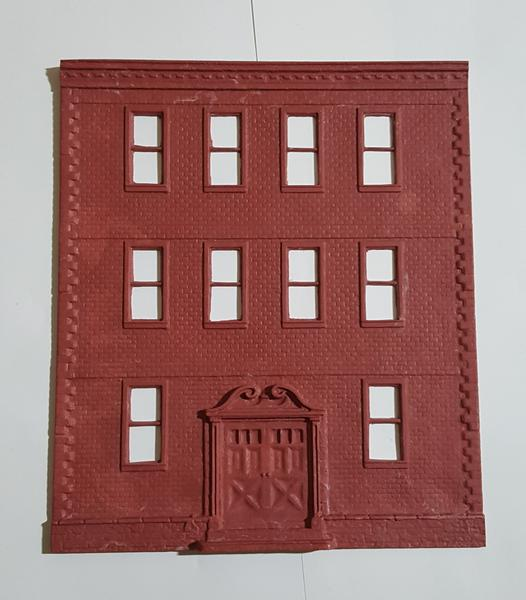 Korber Models #D0069 - O Scale - Apartment Building Front Wall