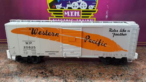 "MTH 20-92122 - 40' AAR Box Car Set ""Western Pacific"" (6-Car)"