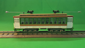"MTH 30-5174-1 - Brill Semi-Convertible Trolley ""Christmas"" w/ PS3"