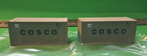 "Atlas O 2000008 - Trainman - 20' Containers ""Cosco"""