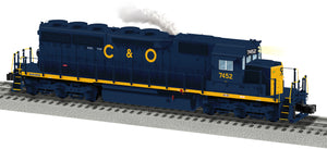 "Lionel 2033481 - Legacy SD40 Diesel Locomotive ""Chesapeake & Ohio"" #7452"