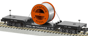 "Lionel 2119030 - A/F Depressed Center Flatcar ""Bethlehem Steel"""