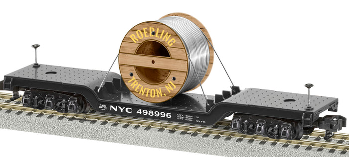 Lionel 2119040 A/F Depressed Center Flatcars NYC / Roeblings Cable