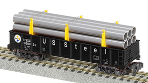 Lionel 2119232 A/F Gondolas W Pipe Load US Steel #260032