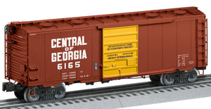 Lionel 2126072 Roof-Hatch Boxcars Central of Georgia #6165