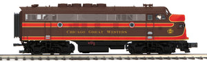 "MTH 22-20936-2 - F-3 A Unit Diesel Engine ""Chicago & Great Western"" w/ PS3 (Scale Wheels)"