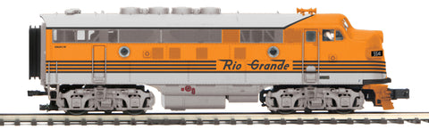 "MTH 22-20943-2 - F-3 A Unit Diesel Engine ""Denver & Rio Grande"" (Scale Wheels)"