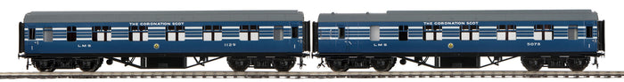 "MTH 22-60057 - LMS Standard Passenger Set ""Coronation Scot"" 2-Car (Fine Scale Wheels)"