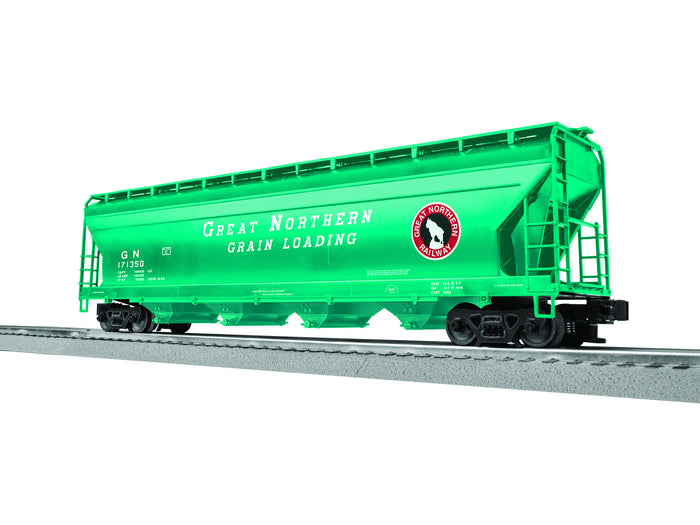 "Lionel 3-17140 - LionScale - ACF 4-Bay Covered Hopper ""Great Northern"" (6-Car)"